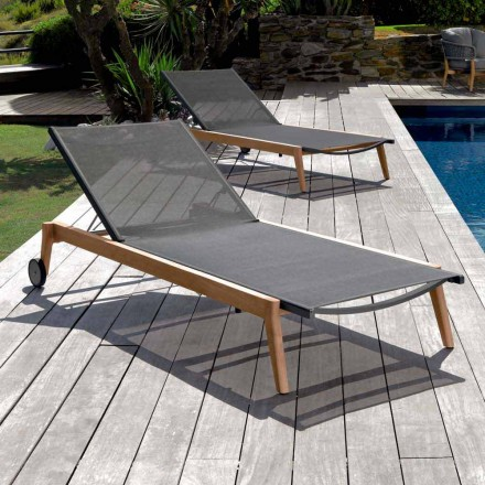Chaise longue de jardin Talenti Moon en tissu design Made in Italy