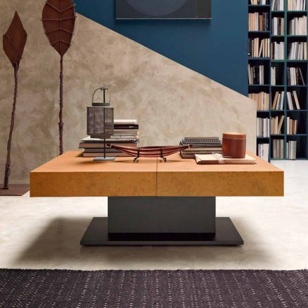 Table basse Transformer avec plateau effet mortier Made in Italy - Romantique