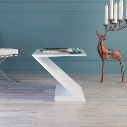 Table basse blanche de design moderne Zeta, faite en Italie