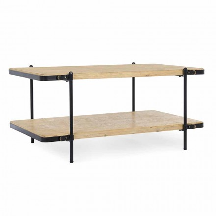 Table Basse Design Moderne en Mdf et Acier Homemotion - Sevesto