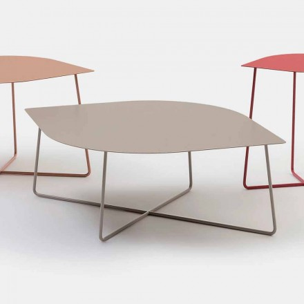 Table basse de salon design en métal Made in Italy – Leaf