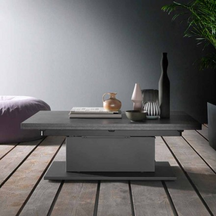 Table basse transformable avec plateau en bois Made in Italy - Annarita