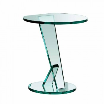 Canapé d'appoint en verre extra-clair Made in Italy - Tarzan