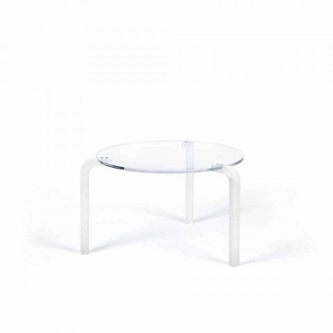 Table ronde moderne haut en méthacrylate transparent Armando