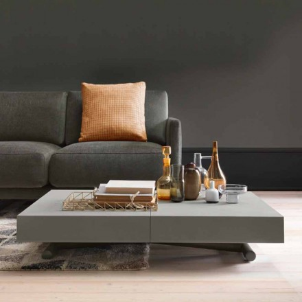 Table basse transformable moderne avec plateau effet Malta Made in Italy - Patroclo