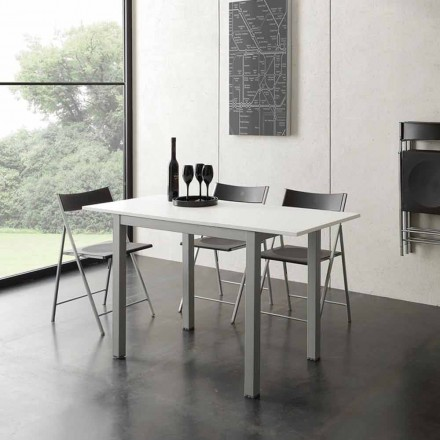 Table extensible blanc de design moderne Gill