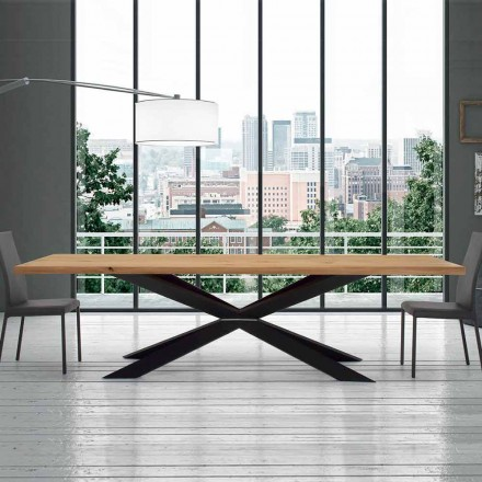Table Extensible 14 Places en Bois Plaqué Made in Italy – Grotta