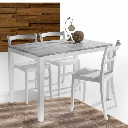 Table extensible Tolentino de design vintage, muddy taupe