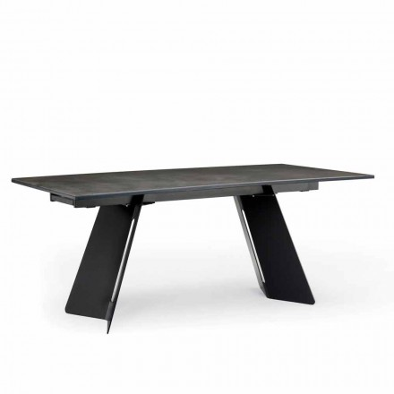 Table extensible moderne avec plateau en grès made in Italy, Erve