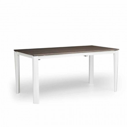 Table à rallonge moderne en frêne blanc made in Italy, Medicina