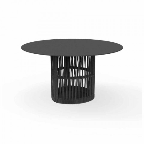 Table de jardin ronde en aluminium Cliff Talenti, design by Palomba