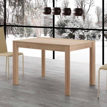 Table à manger extensible Fiumicino 130x80 ouverte 190 cm, design