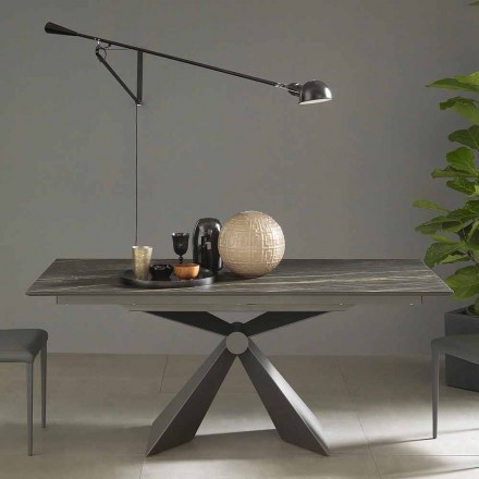 Table à manger extensible jusqu'à 298 cm en céramique Made in Italy - Anaconda
