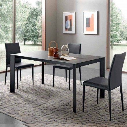 Table à manger extensible jusqu'à 310 cm en céramique Made in Italy - Pitagora