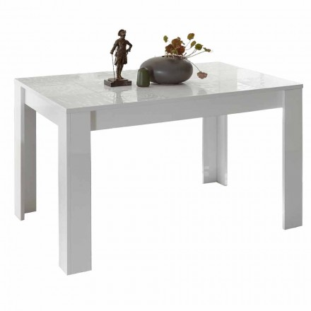 Table à manger en mélaminé extensible jusqu'à 185 cm Made in Italy - Aneta