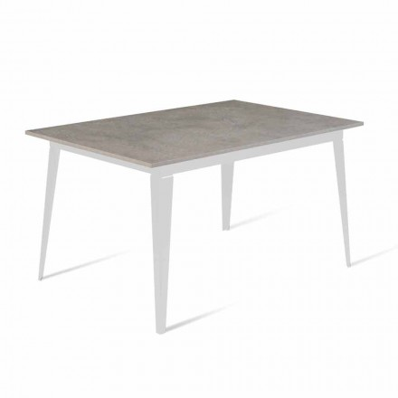 Table à manger extensible moderne jusqu'à 190 cm Made in Italy - Miko