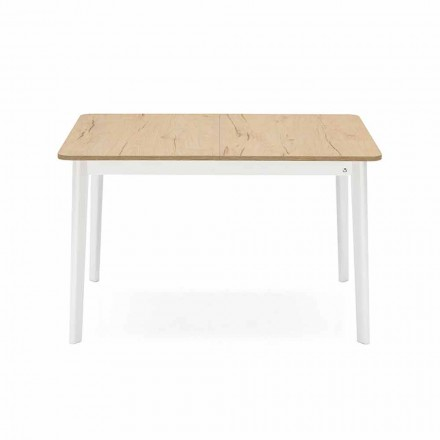 Table extensible rectangulaire jusqu'à 170 cm en bois Made in Italy - Dine