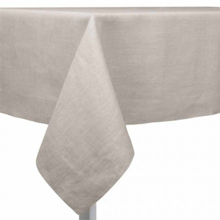 Nappe en lin naturel, rectangulaire ou carré Made in Italy - Poppy