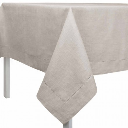 Nappe rectangulaire ou carrée en lin naturel Made in Italy - Chiana