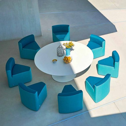 Table de jardin + 8 fauteuils de design moderne Varaschin Big In&Out