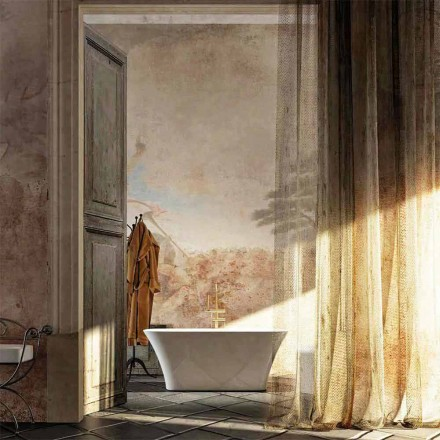 Baignoire îlot Gallipoli de design made in Italy, L159 x P70 x H 64 cm