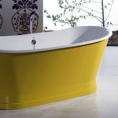 Baignoire autoportante en fer de couleur design moderne Betty