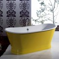 Baignoire freestanding en fonte colorée de design moderne Betty